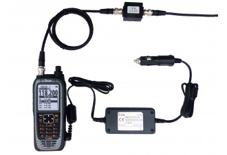Portatif aviation IC-A25CEFR livré avec Filtre FL-IFFL2,  alimentation CP-20 et câble BNC 1 mètre